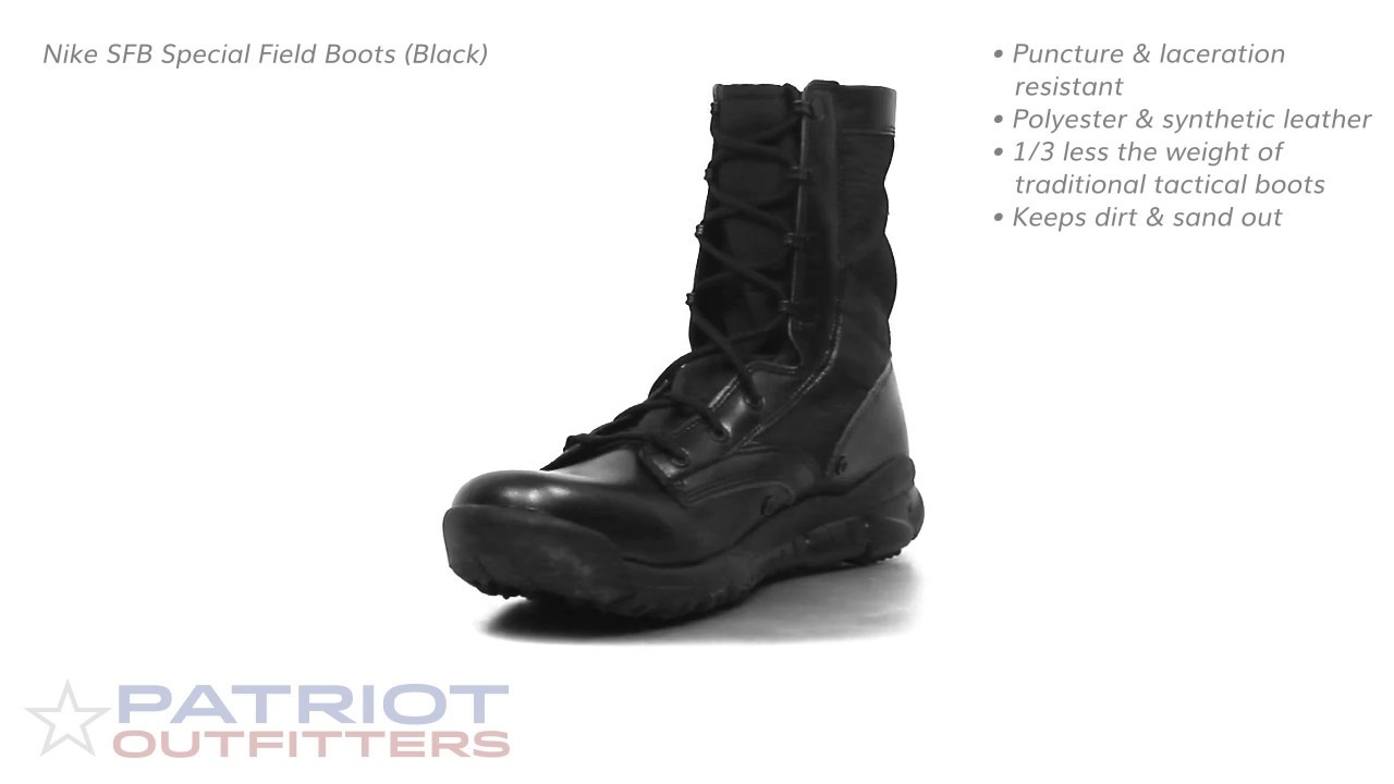 new style bd778 8886f Nike SFB Special Field Boots (Black)