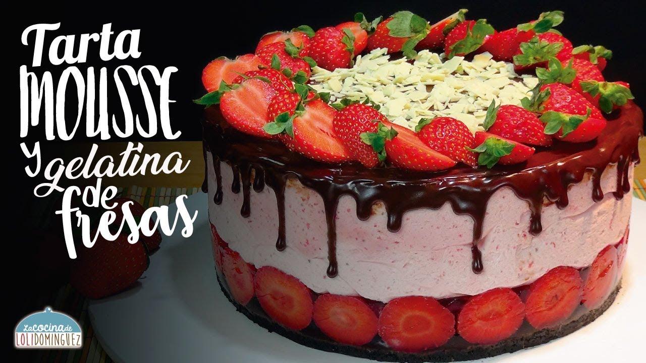 Tarta de mousse, gelatina y chocolate SIN HORNO, receta súper deliciosa. Loli Dominguez