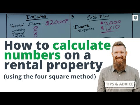 Calculating Numbers on a Rental Property [Using The Four Squ