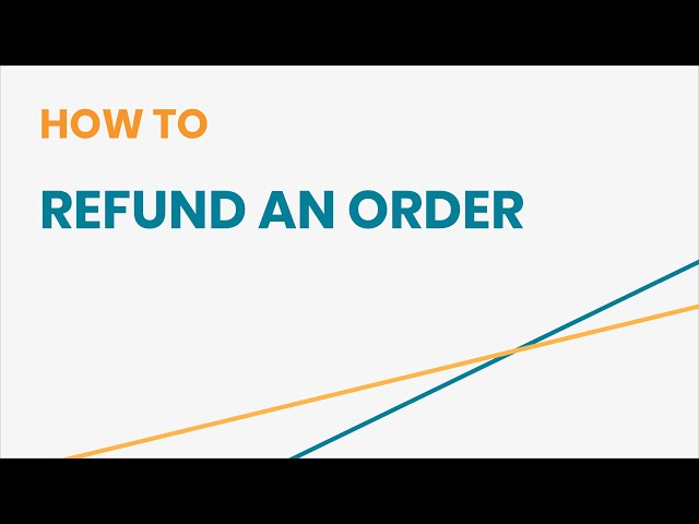 How to Refund an Order