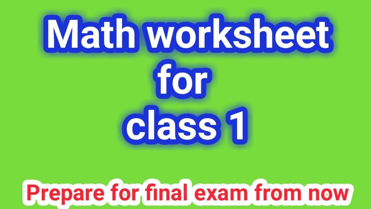 Math Worksheet For Class 1 Grade 1 Class 1 Math Cbsc Syllabus Youtube