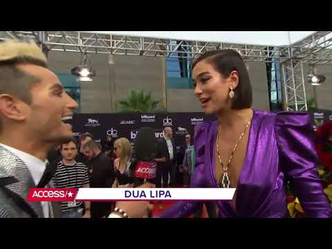 Dua Lipa Interviewed by Ariana Grande's Brother at BBMAs