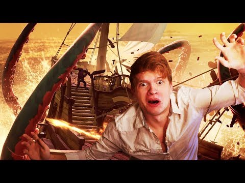 SAILING INTO THE KRAKEN'S BLOOD SEA!!?! - Sea of Thieves Closed Beta Gameplay