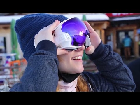 The First True Augmented Reality Ski Goggles