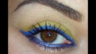 Despicable me Minion inspired eyeshadow tutorial Thumbnail