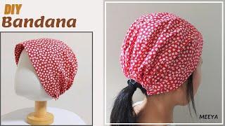 DIY Bandana  쓰기 편한 두건 만들기  Pattern included  반다나  패턴포함  머리수건  Head band  Hair scarf 도안 헤어스카프 バンダナ