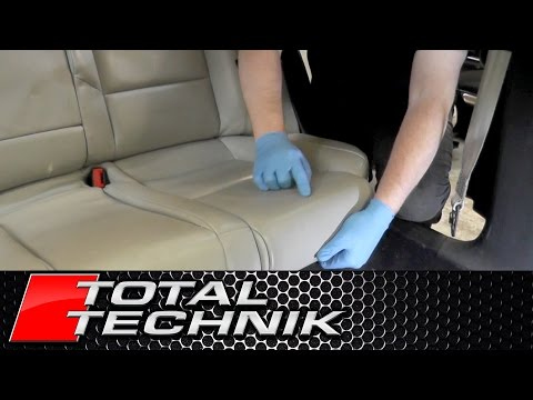 How to Remove Rear Seats Bench - Audi A4 S4 RS4 - B6 B7 - 2001 2008 - TOTAL TECHNIK