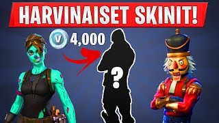 "TOP 10 RAREST SKINS! -You will never see these skins! -""Fortnite Suomi"""