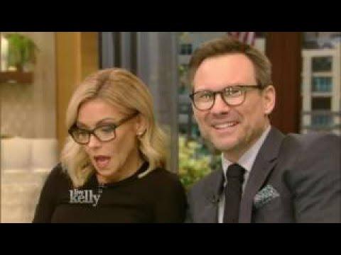 Live With Kelly 11/04/2016 co-host Christian Slater:Kyra Sedgwick; Josh Radnor
