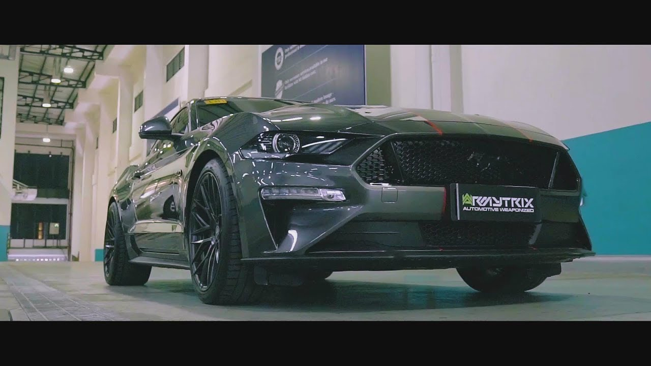 2019 ford mustang gt w armytrix header back valvetronic exhaust loud revs sounds