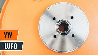 Hvordan og når bytte Bremsetrommel foran og bak VW LUPO (6X1, 6E1): videoopplæring