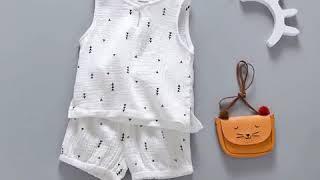 2017 г. одежда для маленьких девочек и мальчиков жилет без рукавов + шорты комплект из 2 предметов