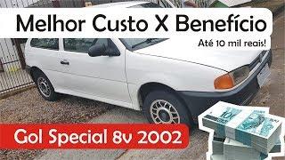Melhor custo benefício até 10 mil reais? Volkswagen Gol Special 2002 8v!