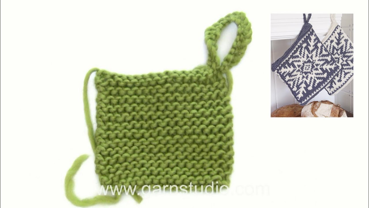 How To Knit A Loop On A Pot Holder Youtube