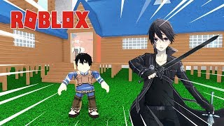 ROBLOX – HE BECOMES KIRITO BUILD HOUSES IN SWORD ART ONLINE – Anime Tycoon 2!