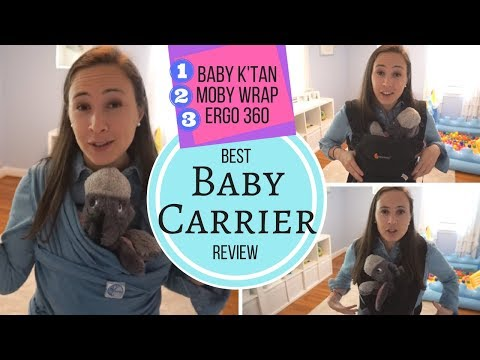 Baby Carrier Review & Comparison! Ergo 360, Baby K'tan & Moby Wrap - Best Baby Carrier?