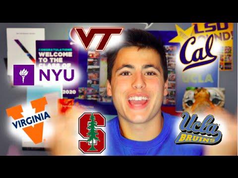 How I Got Into UCLA, Berkeley, UVA and NYU! || DivosVideos