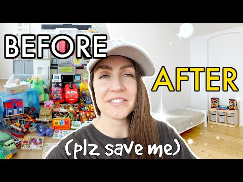 😱 EXTREME TOY DECLUTTER | We GOT RID of 95% of Our Toys (Before and After DECLUTTER & ORGANIZE Toys)