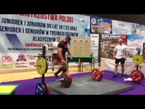 Adrian Świerczyński  – Mistrzem Polski w trójboju siłowym