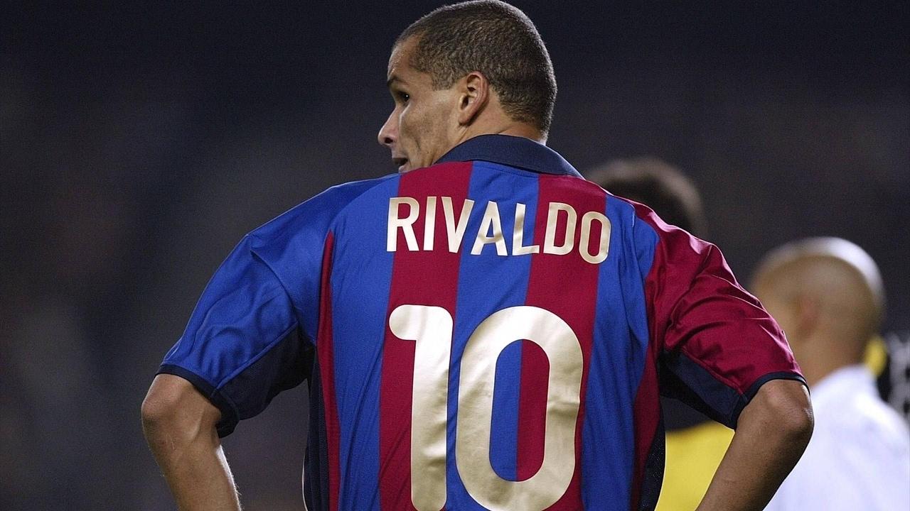 best website ec342 049ac Rivaldo - The Blue-Eyed Barcelona Legend