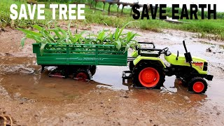 Toy Tractor Transporting Plants | Tractor Videos For Kids | Kids Play | Kids Video |