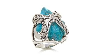 "Studio Barse Turquoise Sterling Silver ""X"" Ring"
