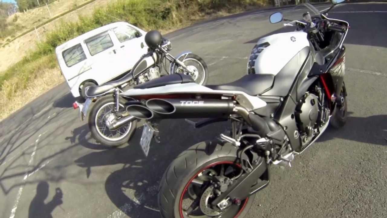 Yamaha yzf r1 2012 with toce bros performance t slash for Toce exhaust yamaha r1