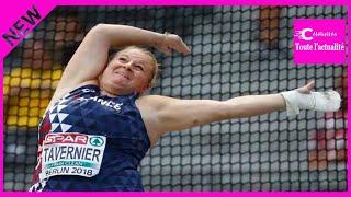 Athlétisme : Alexandra Tavernier en argent au lancer du marteau