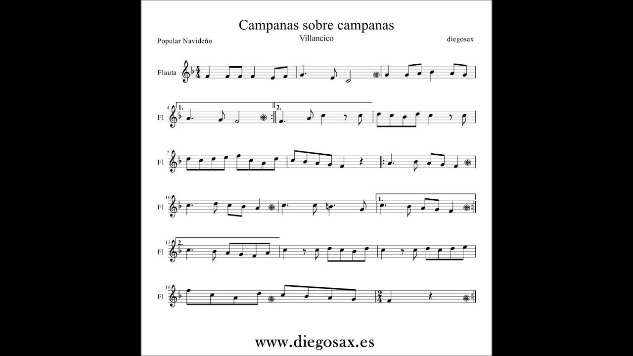 Campana Sobre Campana Partitura Sax Violín Flauta Trompeta Clarinete Trombón Youtube