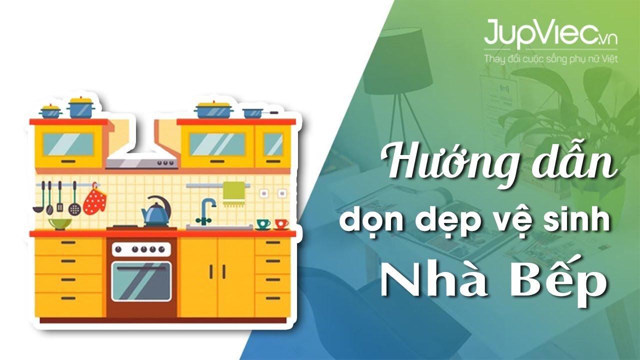 JupViec.vn – Hướng dẫn dọn khu vực bếp