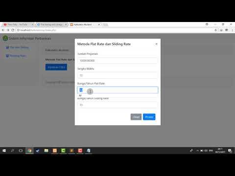 Aplikasi Simulasi Kredit Bunga Pinjaman (Flat Rate, Sliding Rate dan Floating Rate) Web PHP