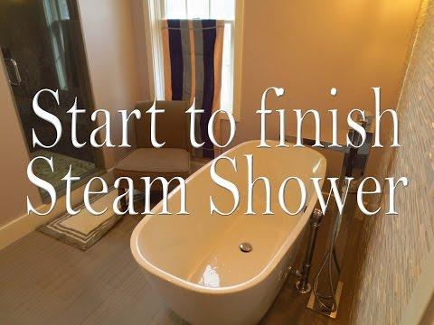Complete bathroom steam  shower  install,  start to finish.