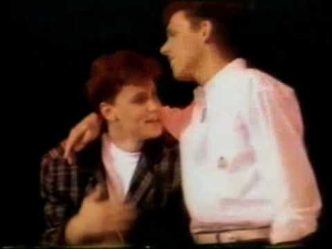 """Corey Haim with Sean """"Hollywood"""" Hamilton speaking about drugs in 1989."""