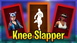 New KNEE SLAPPER Emote on popular skins! | Fortnite Emotes