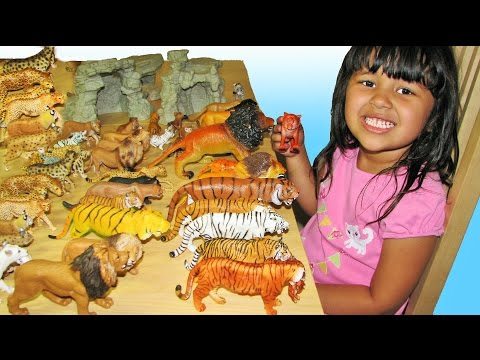 Big Cats My Entire Collection Schleich Safari Kids Toys ZOO Wildlife