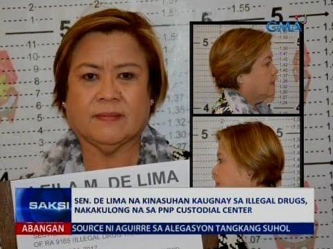 Saksi: Sen. De Lima na kinasuhan kaugnay sa illegal drugs, nakakulong na sa PNP Custodial Center