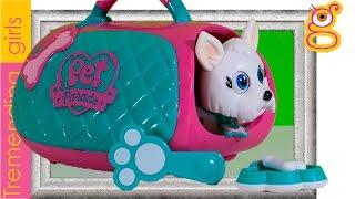 Pet Parade Westie - Giochi Preziosi juguetes en español - Perrito Pet Parade en transportín