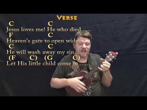 Jesus Loves Me (Hymn) Ukulele Cover Lesson in C with Chords/Lyrics