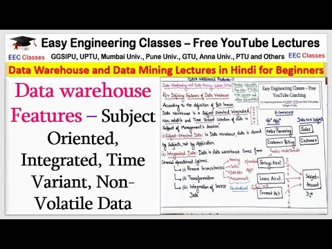 Data Warehouse Features Lecture In Hindi - DWDM Lectures In Hindi, English