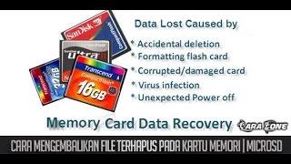 Cara Mengembalikan File Terhapus pada Kartu Memori
