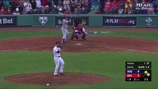 Carlos Beltran RBI Double vs Red Sox | Astros vs Red Sox Game 4 ALDS