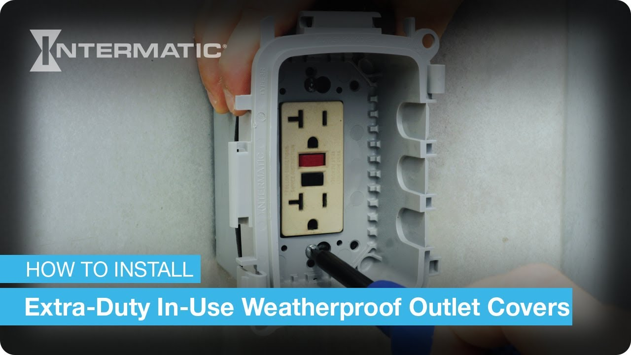 Weatherproof Outlet Cover Installation