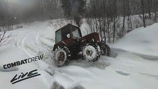 Как мы ехали в Турбо-тракторе на съемки с УРАЛом!