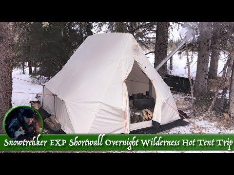 Snowtrekker EXP Shortwall Overnight Wilderness Hot Tent Trip