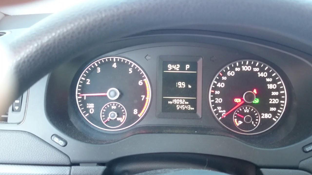 Работа двигателя  на холодную ДЖЕТТА 1.6 куб  105 л.с