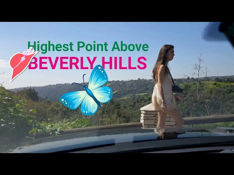 Hills and Streets of Beverly Hills. Amazing Views the Rich Enjoy Every Day