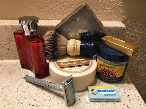 Shaverboy Razor, TFS Bergamotto Neroli Soap & Dunhill Desire Aftershave.