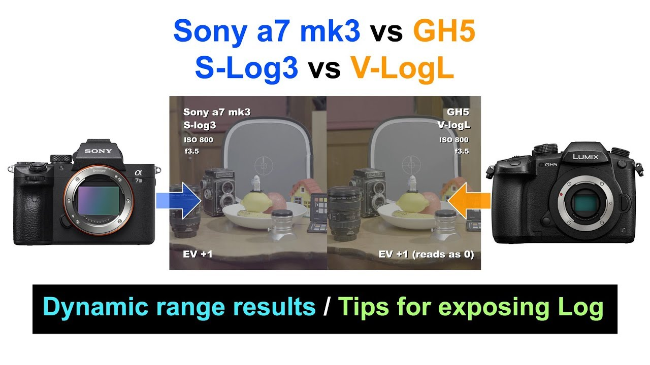 Sony A7 Mk3 Vs Gh5 Dynamic Range Tests S Log3 V Logl