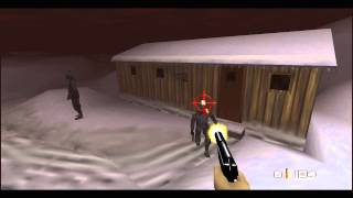 GoldenEye 007 (N64) 100% walkthrough - Mission 5, Part 1: Severnaya Installation, Siberian Plateau