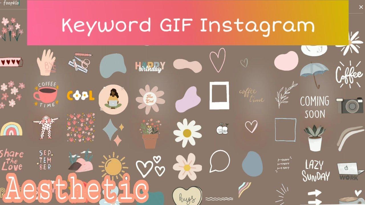 Keyword Gif Instagram Aesthetic Kata Kunci Gif Ig Youtube